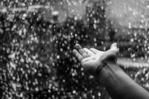 minisegway im regen